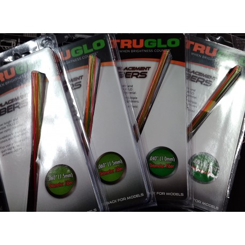 Repuesto Fibra Óptica TRUGLO 1 mm. Rojo, Verde, Rubí, Naranja