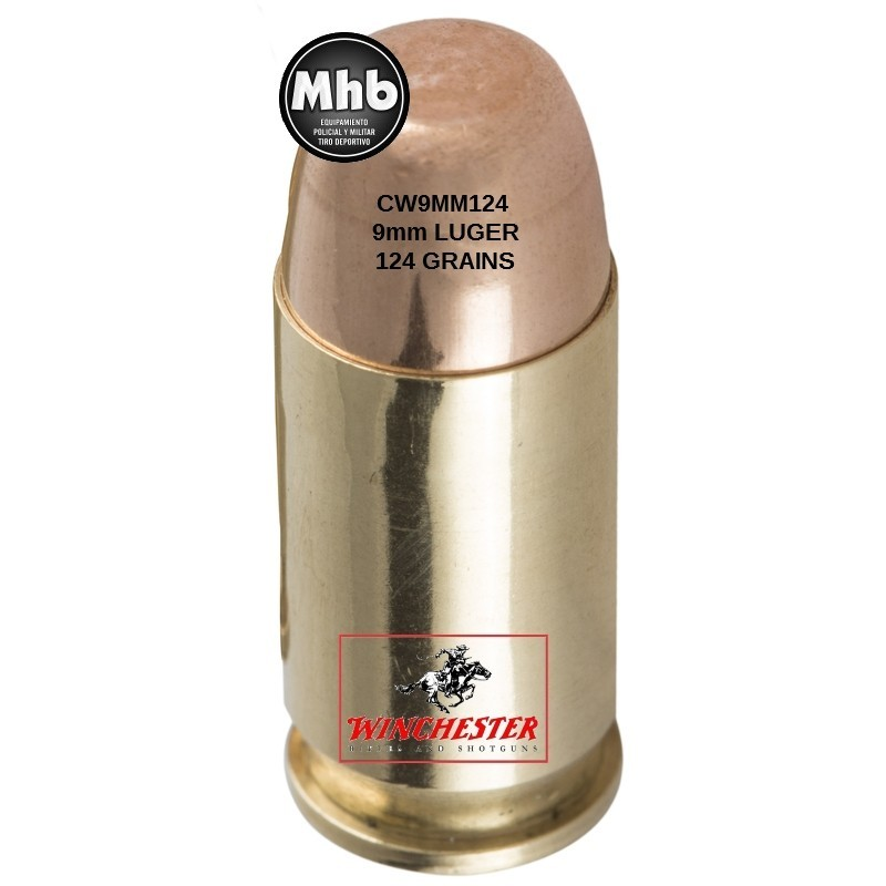 Winchester® SUPER X 9mm LUGER 124gn FMJ