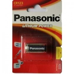 BATERIA LITIO CR123 3V PANASONIC